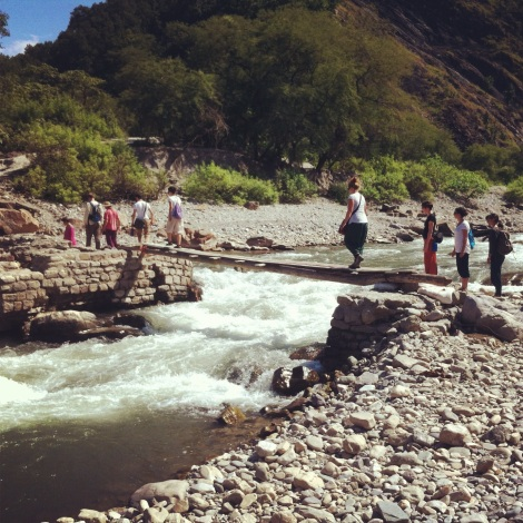Hiking across the Ganges