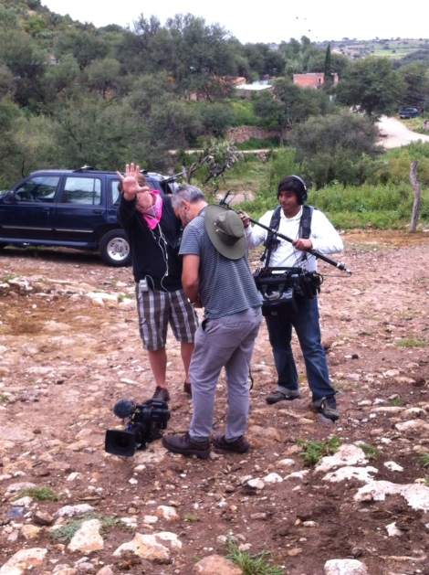 The film crew from HGTV in San Miguel de Allende Mexico with Leslie Patrick and Steven Moore